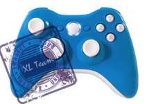 XBOX 360 RAPID FIRE BLUE MODDED CONTROLLER GOW GEARS 3 COD MW2 BLACK