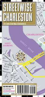Charleston Map   Laminated City Center Street Map of Charleston