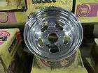 NOS ROCKET CHROME SLOTTED WHEEL 15 X 8 6 X 5 1/2  BC. FORD CHEVY