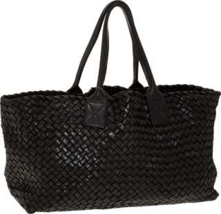 Bottega Veneta Lmtd Ed Black Woven Leather Medium Cabat Bag NR