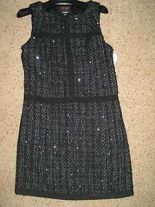 Giambattista Valli Black Sequins DRESS 0 Designer Sleeveless
