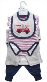 Lot 6 Sets Cute Cotton Baby /Toddler/Child/Boys Clothes Shirt Romper