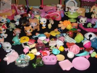 170 pc. Littlest Pet Shop Kitty Dachshund Seahorse Pig Collie Cat Lot
