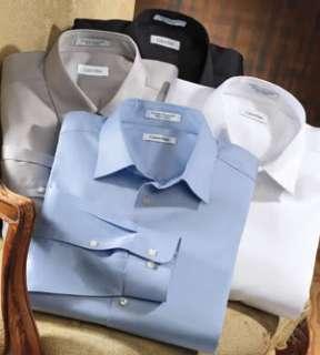 CALVIN KLEIN MENS LONG SLEEVE COTTON DRESS SHIRT NWT