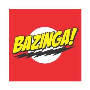 Big Bang Theory Bazinga Vinyl Decal Sticker 4x4 Color