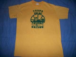 vtg SEATTLE SUPERSONICS 1970s NBA soft thin t shirt M