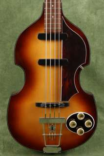 German Made Hofner 1958 ReIssue Violin 500/1 Bass Sunburst 58RI