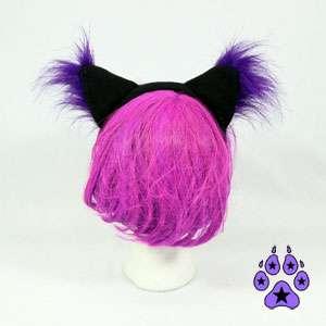 Cosplay CAT RAVE cYbEr Goth Kitty Anime Hat EARS Neko