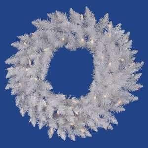 60 Sparkle White Spruce Christmas Wreath w/ 720T 220 LED