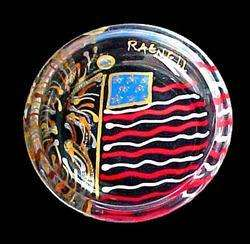 July 4th American Flag Design Patriotic Coaster Set 4pc