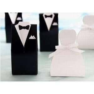 50 Formal WHITE Bridal Dress Wedding FAVORS Gift Boxes
