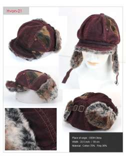 Soviet Russian Military Army hat hats cap Vintage distressed ear flap