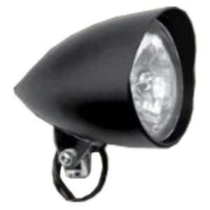 5 3/4 Bobber Harley Custom Tribar Headlight Flat Black
