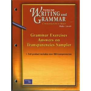 SAMPLER of Grammar Exercises Answers on Transparencies