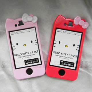 Hello Kitty Hard Case Cover Skin Bowknot for iPhone 4S & 4G+S