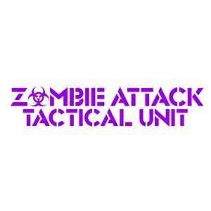 ZOMBIE ATTACK TACTICAL UNIT   8 PURPLE   Vinyl Decal Window Sticker