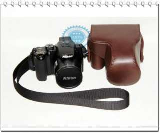 Leather case bag cover for Nikon Coolpix P500 camera