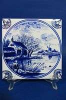 e631c WILLOWS ON DELFT BLUE TILE