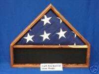 AMERICAN AROMATIC CEDAR FLAG MEDALS DISPLAY CASE 5X9 b