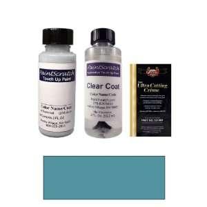 2 Oz. Medium Sapphire Blue Metallic Paint Bottle Kit for