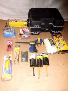 WHOLESALE LOT OF STANLEY TOOL BOX AND ASSORTED TOOLS
