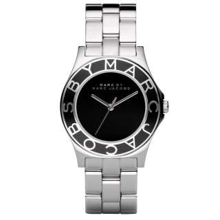 MARC JACOBS BLACK & SILVER TONE STEEL WATCH MBM3058 NEW