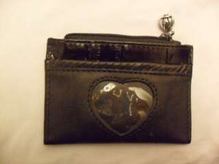 BRIGHTON BLACK LEATHER COIN CREDIT CARD PURSE CLASSIC SOFT NICE MINT