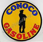 CONOCO GASOLINE 12 VINYL GAS & OIL PUMP DECAL DC 127