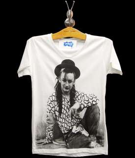 BOY GEORGE Culture Club Punk Pop Rock Retro T Shirt S