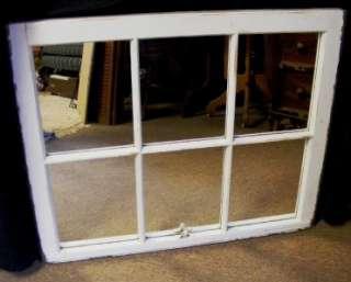 Handmade Old Square White Wood Frame Window & Mirror ~ Elegant Country