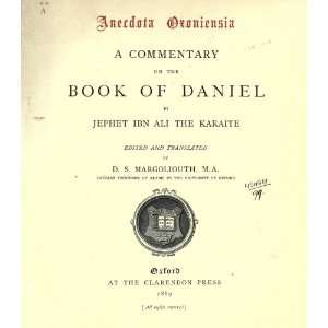 Commentary On The Book Of Daniel: HLevith Cent Japheth Ben Ali: Books