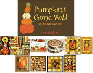 PUMPKINS GONE WILD Moda LAYER CAKES 10 Fabric Squares