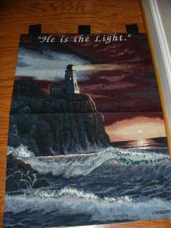 HE IS THE LIGHT CHRISTIAN TAPESTRY WALL HANGING NWT TAB