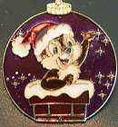 disney pin chip & Dale LE christmas ornament chimney sa