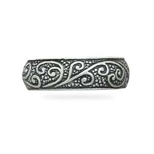 Oxidized Toe Ring Solid .925 Sterling Silver Womens WOW