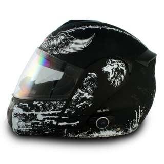 Vcan Bluetooth 2X Visors Crusader Modular Flip Up Motorcycle Helmet *L