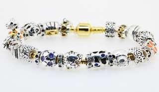 Silver Sister beads European Charm Bracelets Necklace Screw Snake