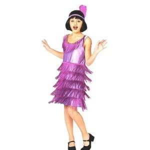 Flapper Costume Roaring 20s Fring Dress Large 10 12: Toys & Games