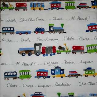 RYDER CHOO CHOO Train Kids Decorative Valance madew Pottery Barn Kids