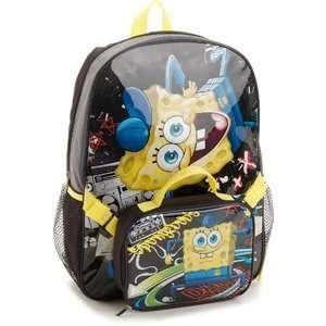 School Supplies Nickelodeon   Spongebob Squarepants Backpack and Lunch