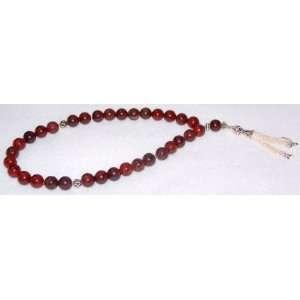 10mm African Red Jasper Islamic Prayer Worry Beads Tesbih