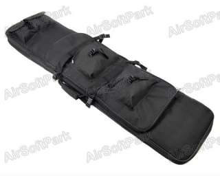 Tactical Dual AEG Rifle Carrying Case Bag Black   120CM
