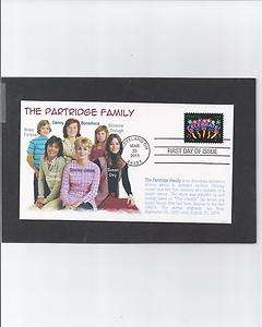 FAMILY SHIRLEY JONES DAVID CASSIDY SUSAN DEY FDC FIRST DAY COVER