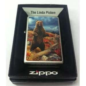 Zippo Custom Lighter   Linda Picken Artist Standing Forest