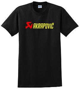 AKRAPOVIC T SHIRT MOTORCYCLE ENDURO MX BLACK EXHAUST KTM HUSABERG