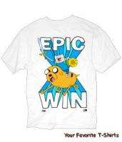 Licensed Adventure Time Epic Win Adult Shirt S XL
