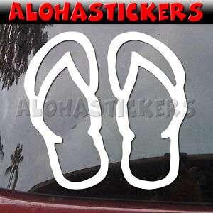 FLIP FLOP SLIPPER Vinyl Decal Hawaii Window Sticker H23
