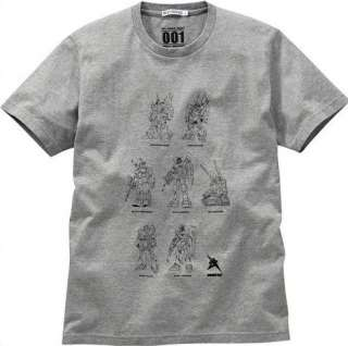 Uniqlo Gundam Mobile Suit 001 T Shirt Tee Gray