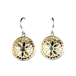 Anna Beck Designs 18k Gold Plated Crystal Flower Dish Earrings