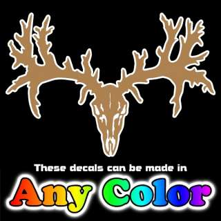 Deer Skull 11 Hunting Chrome Auto Window Sticker Decal